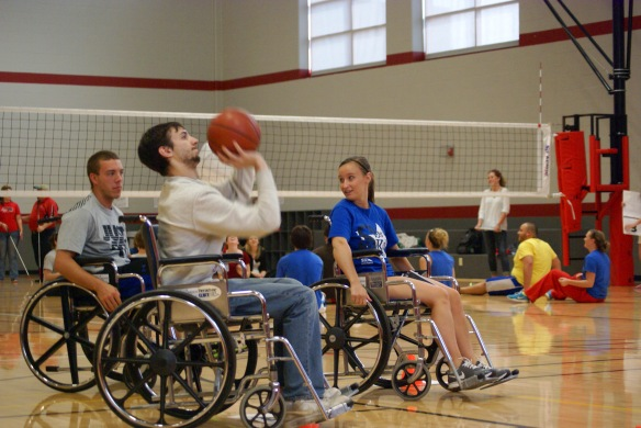 Great Wheelchair Challenge - wheelchair basketball and sitting volleyball.