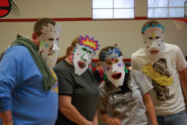 Students decorated masks!