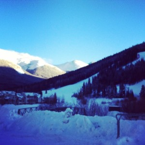 A snapshot taken from Copper Mountain, Colorado where the Ski and Snowboarding Trip took place!