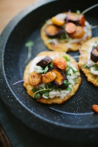 Savory Chickpea Pancakes w- Roasted Carrots